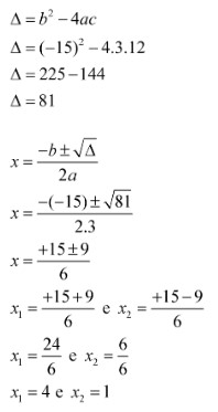 Fórmula de Bháskara: exercícios e exemplos