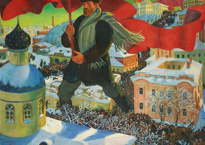 O Bolchevique, Boris Kustodiev (1920)