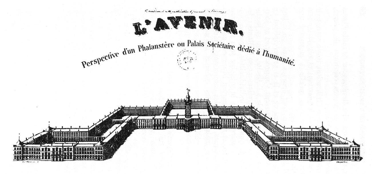 Perspectiva de um Falanstério – Victor Considérant (século XIX)