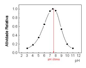 Atuação do pH na atividade enzimática
