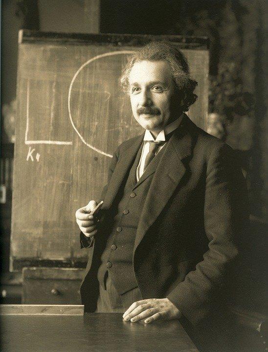 Albert Einstein lecionando