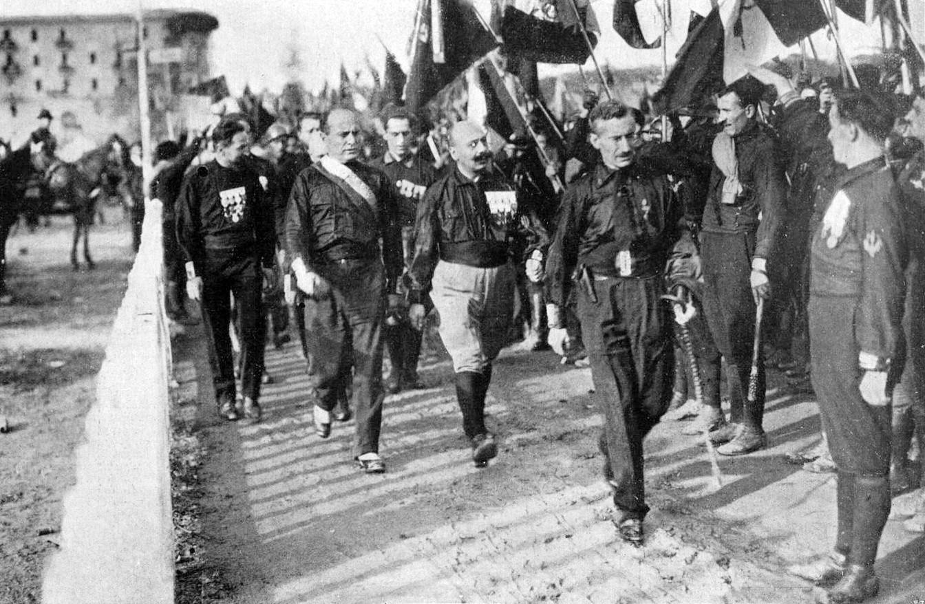Camisas negras na Marcha sobre Roma (1922)