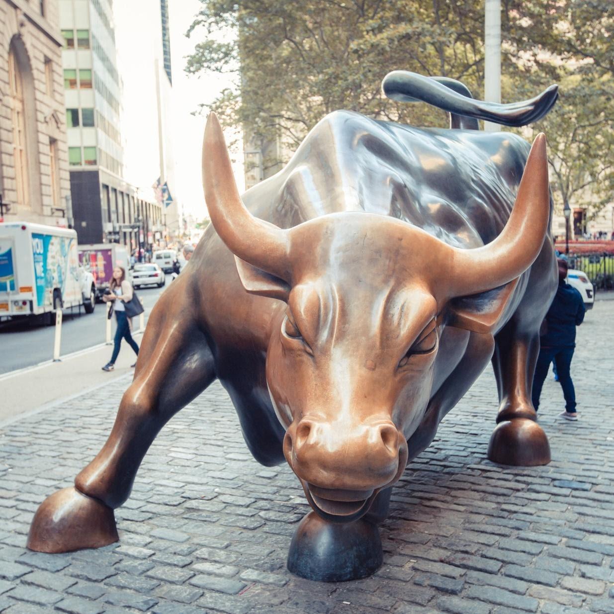 Estátua do Touro de Wall Street.
