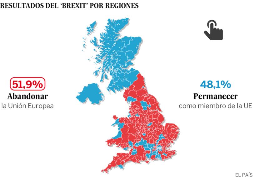 Resultado do Brexit por região